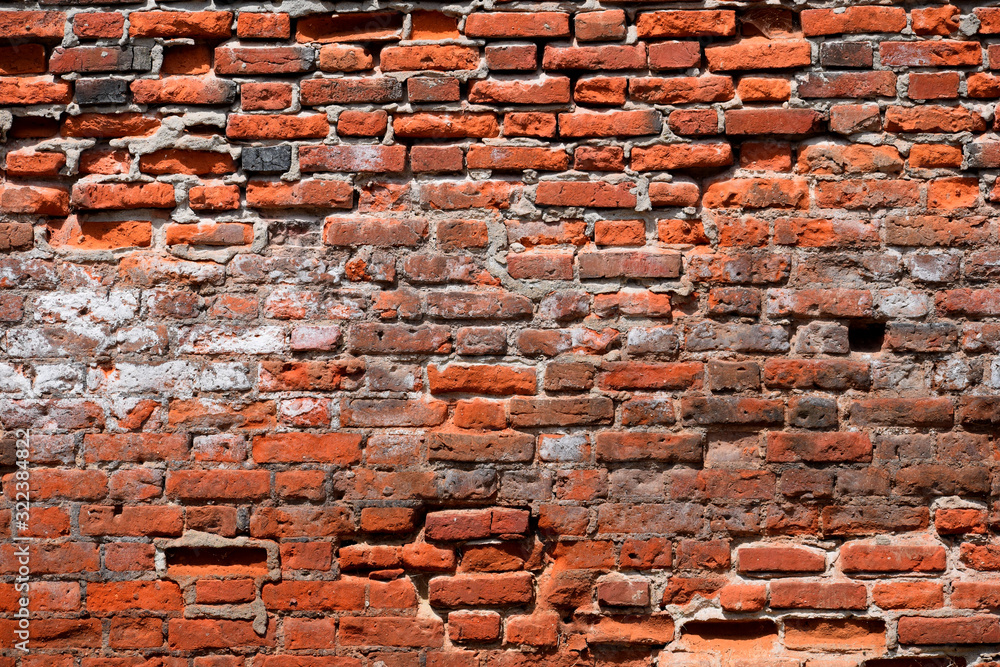 Old brick wall abstract coloured