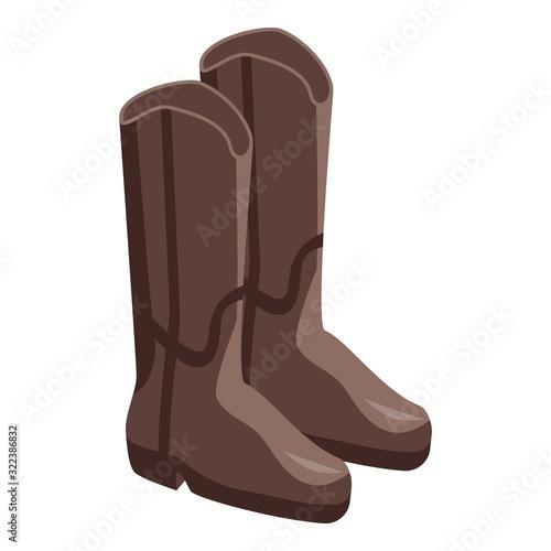 Valokuva Cowboy boots icon