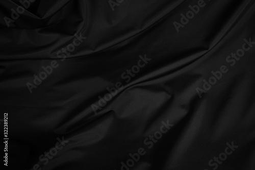 Obraz Black curtain background and texture - fototapety do salonu