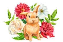 Composition With Bunny And Bou...