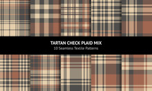 Plaid Pattern Set. Seamless Ta...