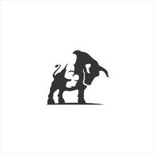 Bull Logo Icon Vector Design