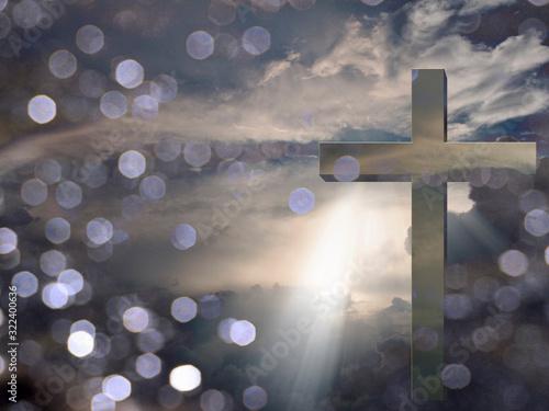 Fotografie, Tablou Light of Christ. Sunset or sunrise