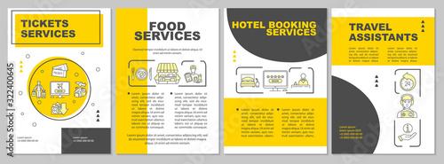 Photo Trip amenities brochure template