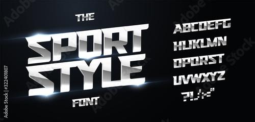 Sport style alphabet Tapéta, Fotótapéta
