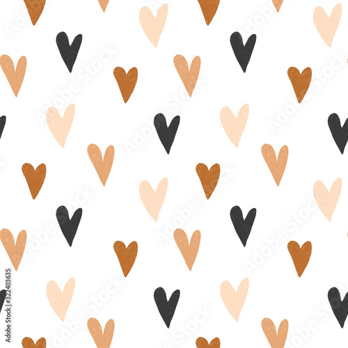 seamless-pattern-of-hand-drawn-simple-hearts-in-pastel-brown-and-neutral-beige-colors-on-white-background