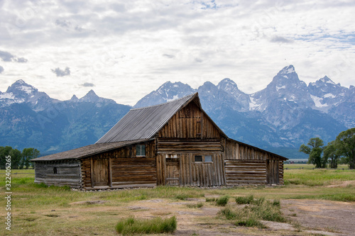 andy chambers residence mormon homestead grand tetons with mormon farm in summer Wallpaper Mural