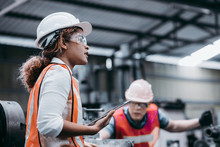 Female Industrial Engineer Wea...