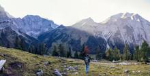 Man Hiking The Karwendel Mount...