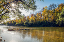 Isar River In The Northern Eng...
