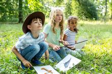 School Children Learning To Di...