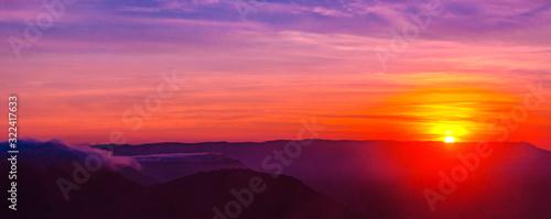 Amazing sunset and sunrise Canvas Print