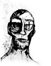 Ink Sketch Of An Abstract Man'...