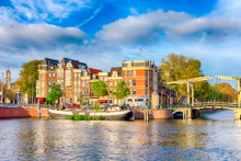 Traditional Dutch Cityscape Of...