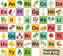 A-Z Vegetable Alphabet Set For...