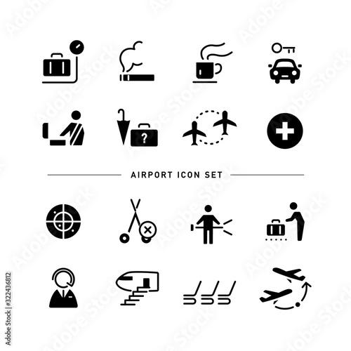 Obraz na plátne AIRPORT ICON SET