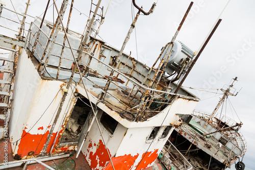 Fényképezés Old abandoned non-working ship