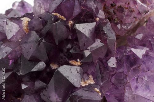 Photo Mineral sample. Amethyst background
