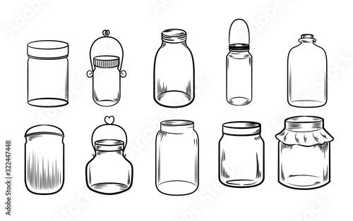 jar vector set collection graphic clipart design Fototapet
