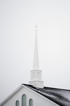 Low Angle Shot Of A Church Wit...