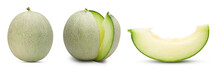 Collection Of Green Melon Isol...