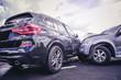 canvas print picture - Car crash dangerous accident on the road.