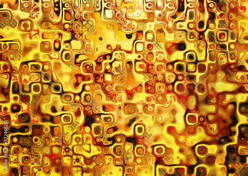 Obrazy Gustav Klimt  red-and-gold-chess-abstract-pattern-gold-mosaic