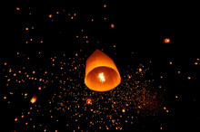 Lanterns Floating In Yeepeng F...