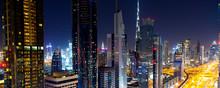 Dubai City Scape At The Night