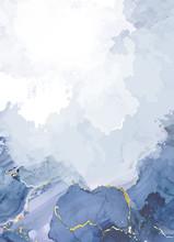 Classic Blue Watercolor Fluid ...