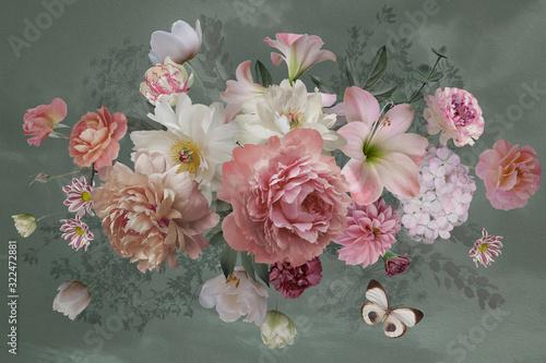 malowane-duze-kwiaty-na-ciemnym-tle