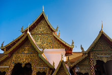 Chiang Mai , Thailand - January, 19 2020 : Wat Pha That Doi Suthep Temple, Wat Phra That Doi Suthep Is A Theravada Buddhist Temple Near Chiang Mai, Thailand