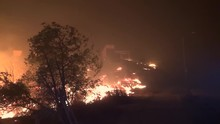 Saddleridge Fire Rages Through...