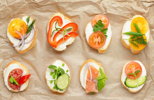 Sandwiches With Tasty Cream Ch...