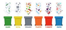 Garbage Bins For Different Typ...