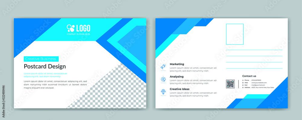 Fototapeta Corporate postcard template