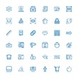 Editable 36 square icons for web and mobile