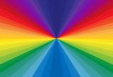 Fototapeta Tęcza - abstract background with rays