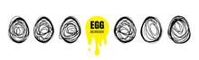 Continuous Egg Vector Illustra...