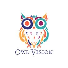 Cute Owl Colorful, Logo Design...