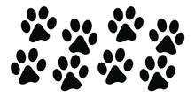Black Footprints Of Dogs Set I...