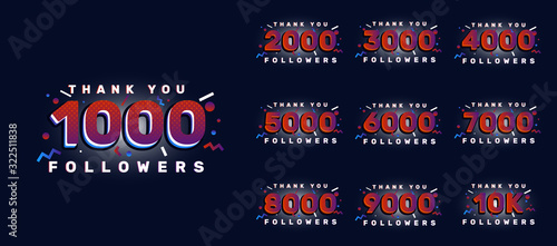 Canvastavla Followers numbers set