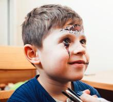 Little Cute Child Making Facep...