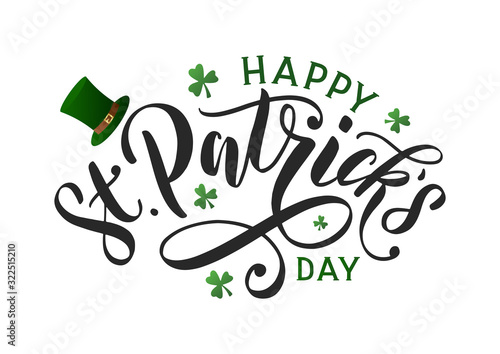 Fotografia Saint patricks day typography poster