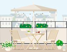 White Garden Furniture Surroun...