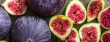 Fresh Figs Slices. Blue Fig Fr...