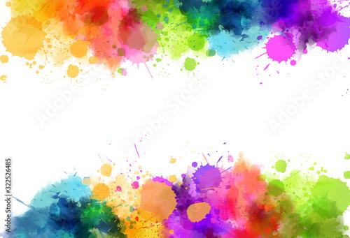 Waterocolor splash background Canvas Print