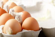 Raw Organic Brown Chicken Eggs...