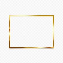 Gold Shiny Glowing Vintage Fra...