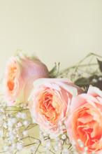 Floral Arrangement Of Roses An...